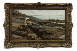 THE LITTLE FISHERGIRL, AN OIL BY JAMES FULTON