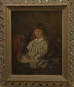 PORTRAIT OF A YOUNG GIRL, AN OIL