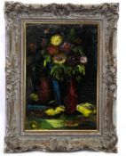 CHRYSANTHEMUMS, AN OIL BY CHARLES MURRAY