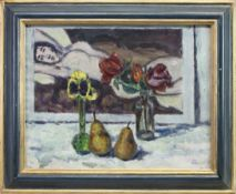 STILL LIFE WITH A PAINTING, AN OIL BY JOHN MILLER