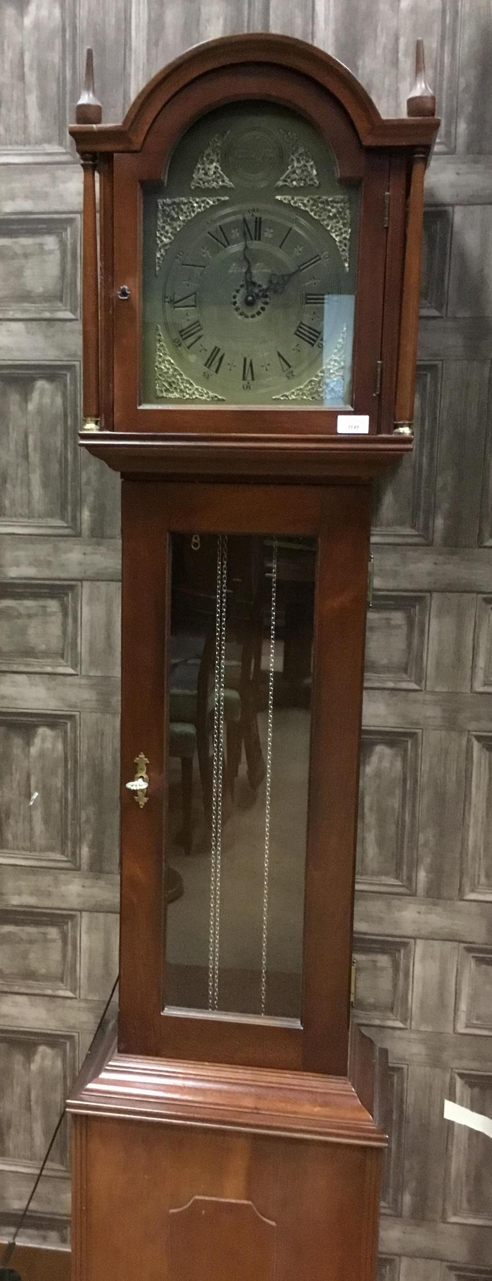 Lot 1149 - A MAHOGANY LONGCASE CLOCK BY RICHARD BROAD