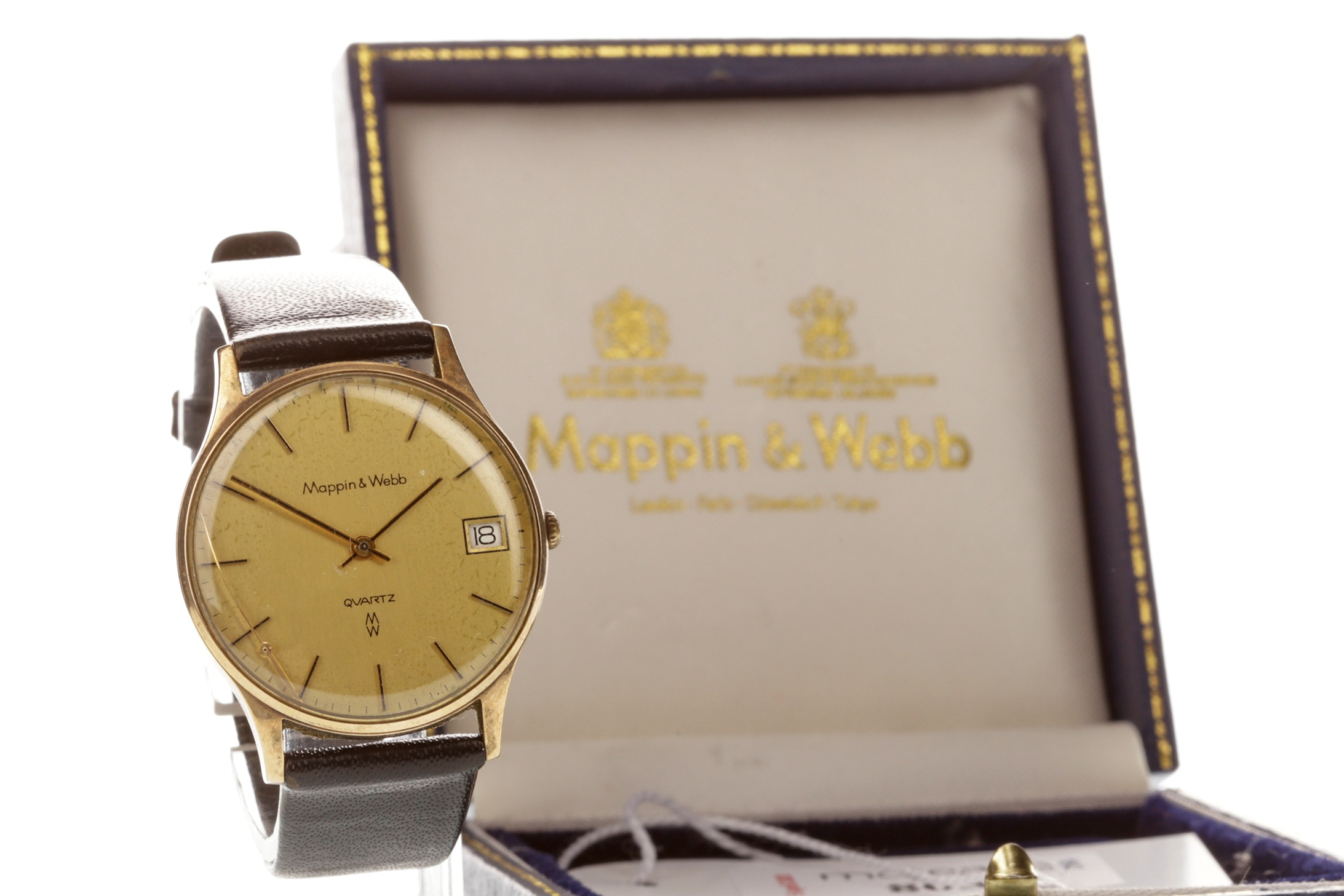 Lot 731 - A GENTLEMAN'S MAPPIN AND WEBB WATCH