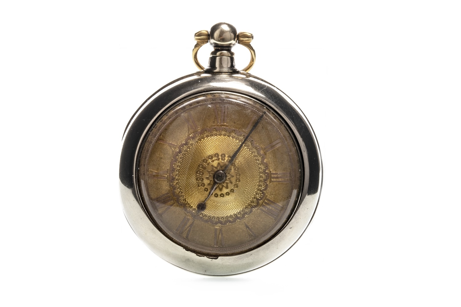 Lot 724 - AN OPEN FACE POCKET WATCH
