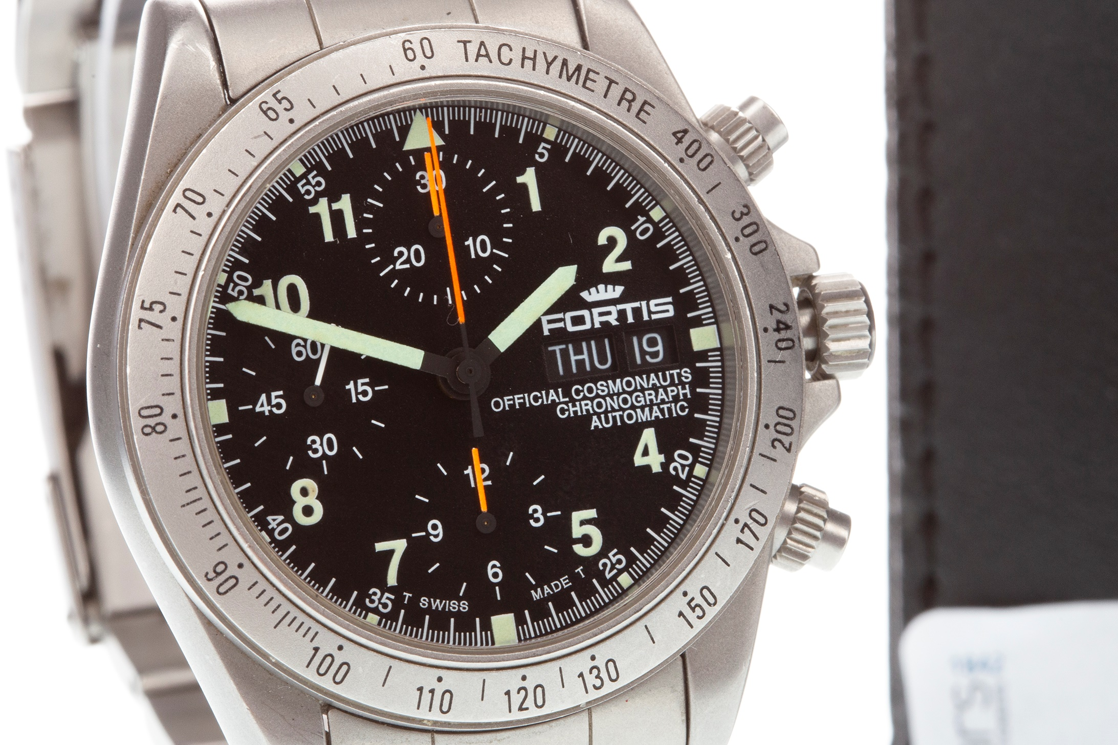 Lot 718 - A GENTLEMAN'S FORTIS STAINLESS STEEL WATCH