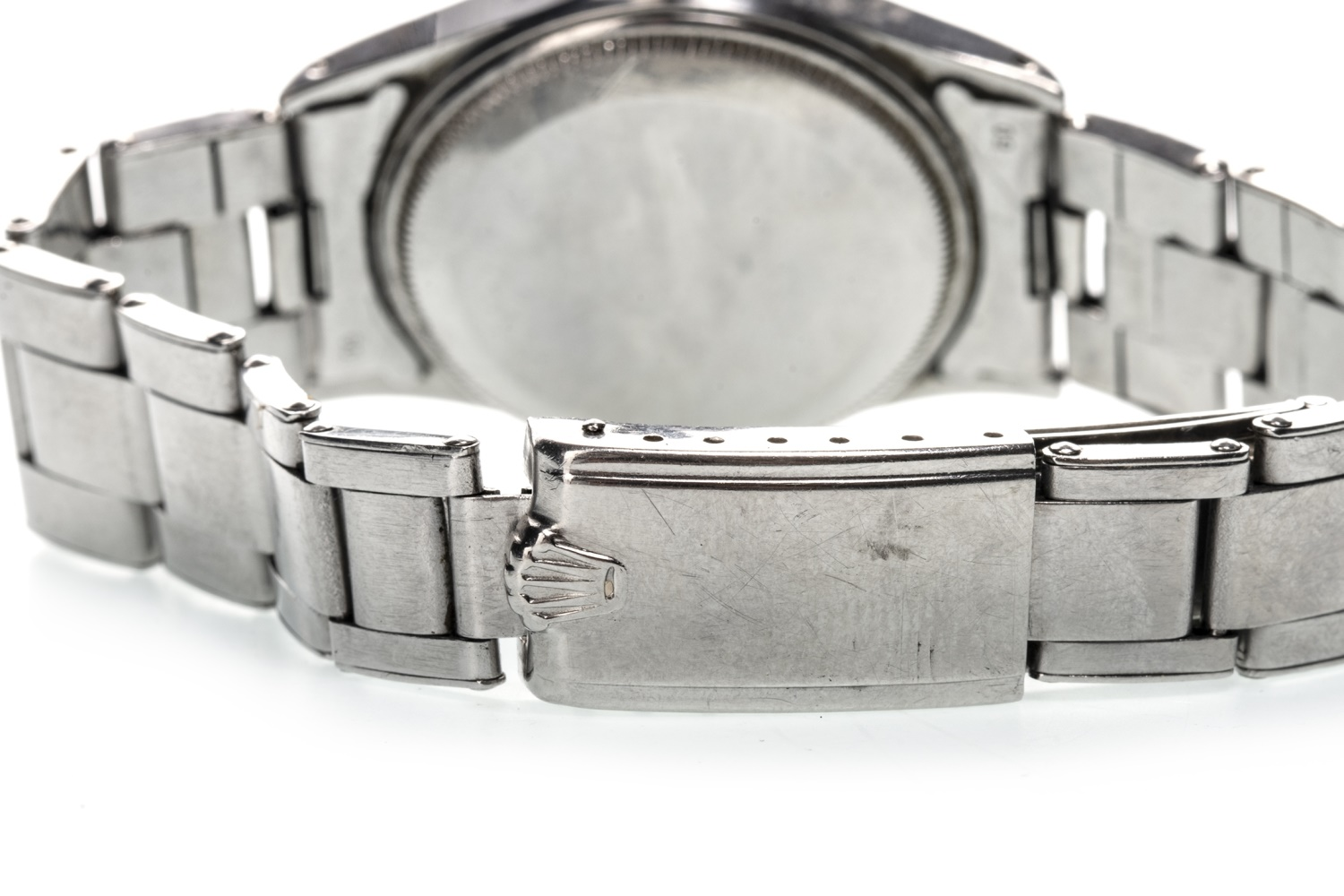 Lot 860 - A GENTLEMAN'S ROLEX OYSTER PERPETUAL STAINLESS STEEL WRIST WATCH
