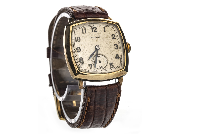 Lot 852 - A GENTLEMAN'S ROLEX NINE CARAT GOLD MANUAL WIND WRIST WATCH