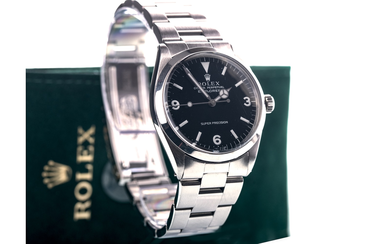Lot 862 - A GENTLEMAN'S ROLEX OYSTER PERPETUAL EXPLORER SUPER PRECISION STAINLESS STEEL AUTOMATIC WRIST WATCH