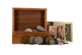 A COLLECTION OF WORLD COINS AND BANKNOTES