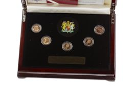 THE QUEEN ELIZABETH II (1952 - PRESENT) GOLD SOVEREIGN JUBILEE COLLECTION