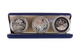 THE 1994 SILVER THREE COIN PROOF SET