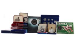 A COLLECTION OF CHANNEL ISLANDS PROOF SETS AND INDIVIDUAL COINS