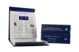 THE AMERICA STATEHOOD QUARTERS COLLECTION AND COMPLETE JFK UNCIRCULATED HALF DOLLAR COLLECTION