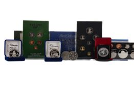 A COLLECTION OF WORLD PROOF COIN SETS