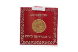 AN EDWARD VII (1901 - 1910) GOLD SOVEREIGN DATED 1902