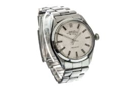 A GENTLEMAN'S ROLEX AIR KING STAINLESS STEEL AUTOMATIC WRIST WATCH