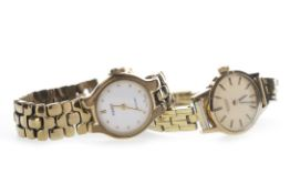 TWO LADY'S GOLD PLATED WATCHES