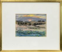 SUNSET, MONTROSE, A PASTEL BY ANNE DONALD