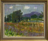 SUMMER DAY, PROVENCE, AN OIL BY JOHN CUNNINGHAM