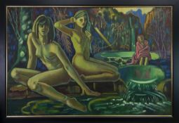 THE DAUGHTERS OF BABYLON, AN OIL BY RICHARD TURNER