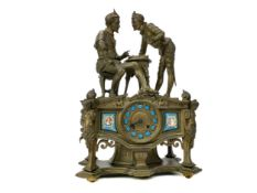 A LATE 19TH CENTURY FRENCH FIGURAL MANTEL CLOCK