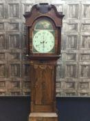 A 19TH CENTURY MAHOGANY LONGCASE CLOCK