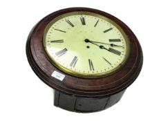 AN EARLY 20TH CENTURY WALNUT CASED WALL CLOCK