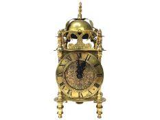 A MID-20TH CENTURY LANTERN CLOCK