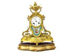 A 19TH CENTURY FRENCH ORMOLU MANTEL CLOCK