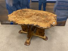 A LATE 20TH CENTURY ELM AND ASH COFFEE TABLE