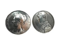 A PAIR OF MEDALS DEPICTING QUEEN WILHELMINA AND PRINCE HENDRIK OF THE NETHERLANDS