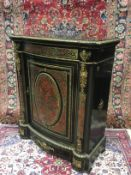 A 19TH CENTURY BOULLE PIER CABINET