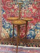 AN INLAID CAKE STAND