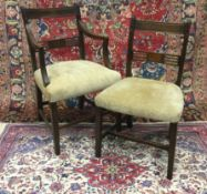 A SET OF EIGHT REGENCY MAHOGANY DINING CHAIRS