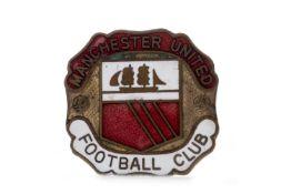 A MANCHESTER UNITED FOOTBALL CLUB ENAMELLED BADGE