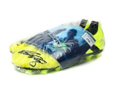 A PAIR OF FOOTBALL BOOTS SIGNED BY RYAN JACK OF RANGERS F.C.