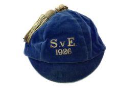 A SCOTLAND V ENGLAND INTERNATIONAL FOOTBALL CAP 1926