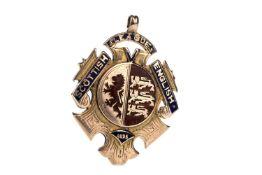 A SCOTTISH ENGLISH LEAGUE MEDAL AWARDED TO DAN DOYLE 1896