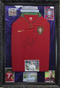 A SIGNED PORTUGAL FOOTBALL JERSEY