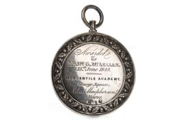 A LOT OF TWO EARLY VICTORIAN SILVER PENMANSHIP MEDALS