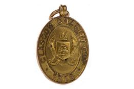 JIMMY MCMENEMY - HIS GLASGOW CHARITY CUP WINNERS GOLD MEDAL 1918
