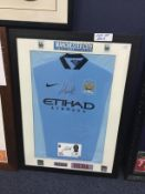 A SIGNED MANCHESTER CITY FOOTBALL CLUB JERSEY