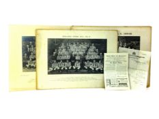 AN ARCHIVE OF PHOTOGRAPHS AND A LETTER RELATING TO NEWCASTLE UNITED F.C.