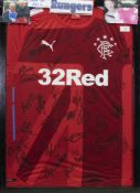 A SIGNED RANGERS FOOTBALL CLUB JERSEY