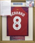 A SIGNED LIVERPOOL FOOTBALL CLUB JERSEY