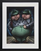 TWEEDLE-DEE AND TWEEDLE-DUMB, A PASTEL BY FRANK MCFADDEN