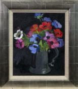 A PINT OF ANEMONES, AN OIL BY NORMAN KIRKHAM
