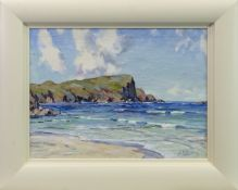 SCOTTISH SHORE, AN OIL BY JOHN ALLAN