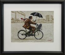 WINTER COMMUTER, AN OIL BY GRAHAM MCKEAN