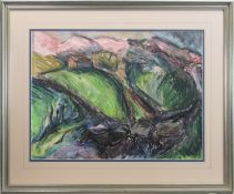 KERRY LANDSCAPE I, A PASTEL BY JOHN AUSTIN-WILLIAMS