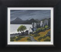 THE CUILLINS FROM ELGOL, AN OIL BY DAVID BARNES
